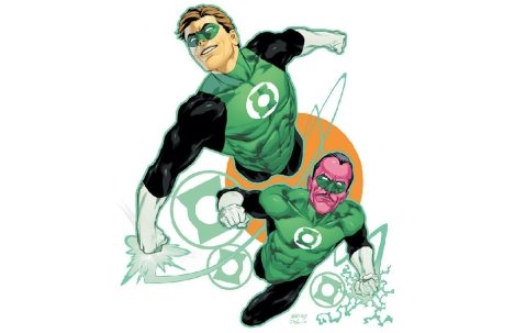 Green Lantern and Sinestro