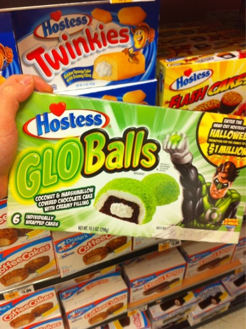 Hostess Sno Balls Green Lantern Glo Balls