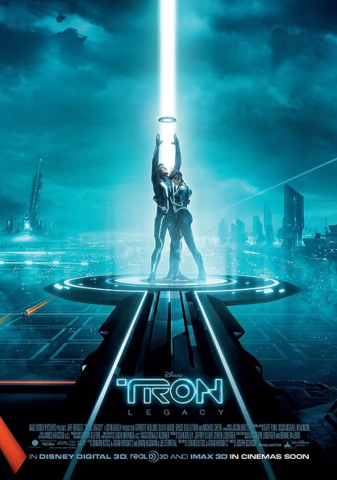 Tron Legacy Poster and Jeff Bridges Scene