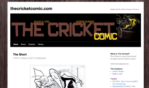 The Cricket Comic