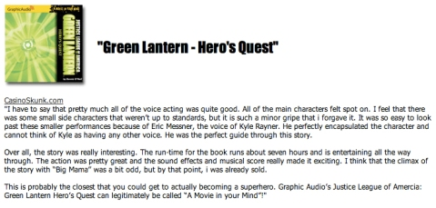 Green Lantern Movie In Your Mind